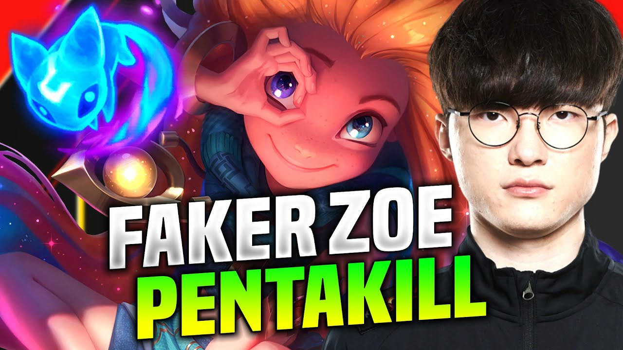 FAKER GETS PENTAKILL WITH ZOE! - T1 Faker Plays Zoe vs Lissandra Mid! | KR SoloQ Patch 10.16