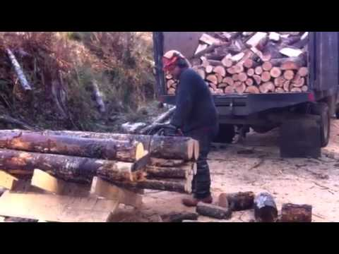 Poor mans firewood processor