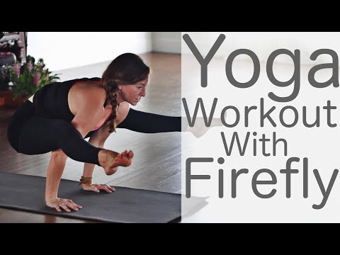 Yoga Workout: Firefly (Titibasana) and other arm balances - With Fightmaster Yoga