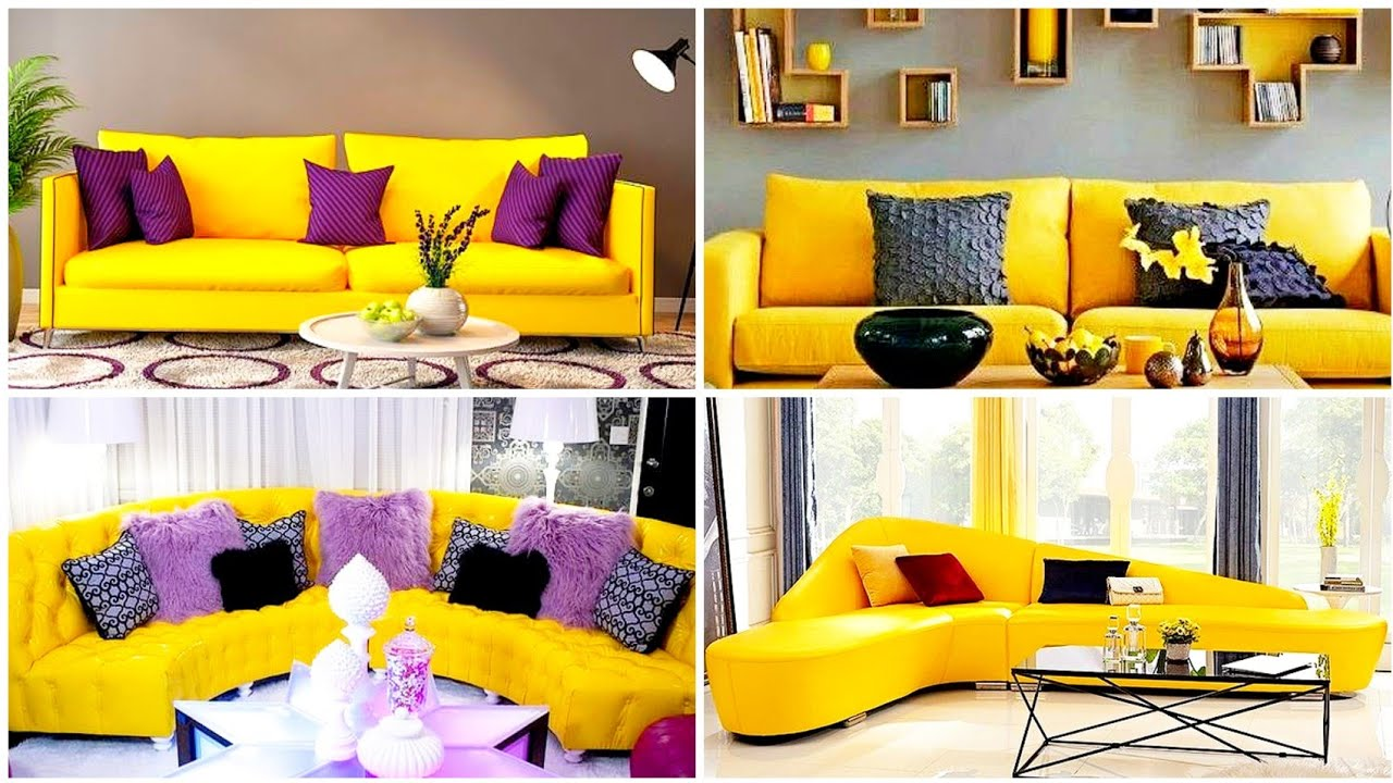 Beautiful Yellow Sofa Design Ideas, Yellow Living Room Ideas