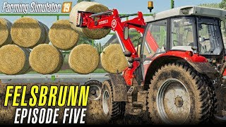 BALE TRANSPORTATION | Let's Play Farming Simulator 19 | Episode 5
