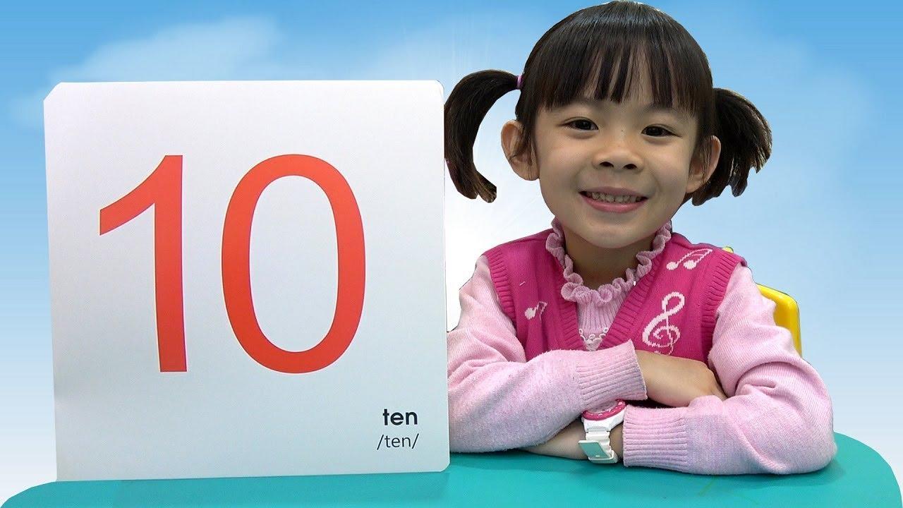 image Bé Học Toán – Học Đếm Con Số Từ 0 – 50 Và Dấu Tính Cơ Bản ❤ AnAn ToysReview TV ❤