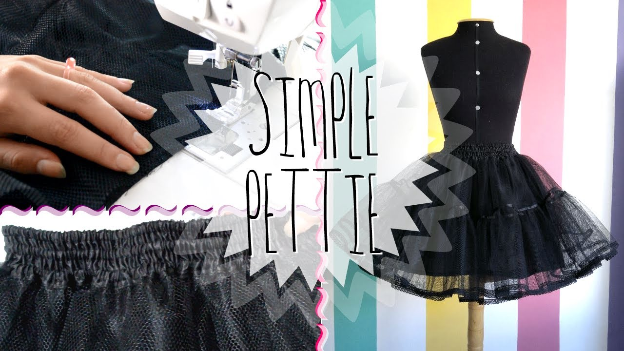 Diy Making A Petticoat Melikestea Youtube