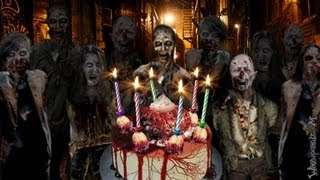Zombie Party Cake - Happy Birthday [not For Small Kids]
