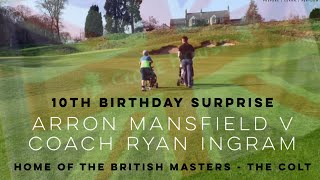 Arron Mansfield V Coach Ryan Ingram - Close House British Masters - Colt