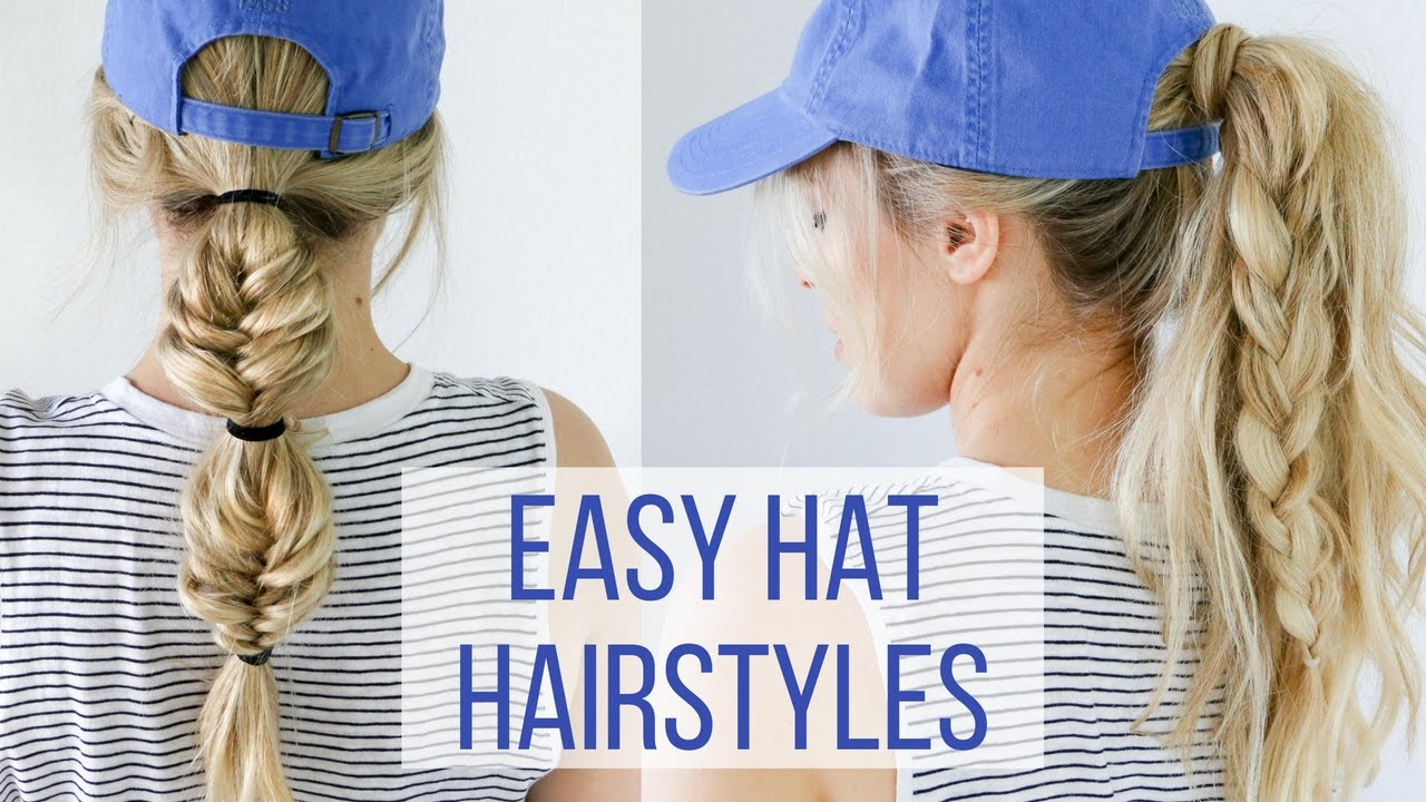 easy hairstyles for hats - hair tutorial