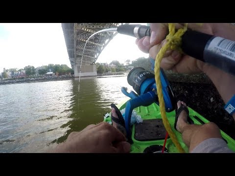 Yorktown Beach, Va Coleman Bridge Kayak Fishing