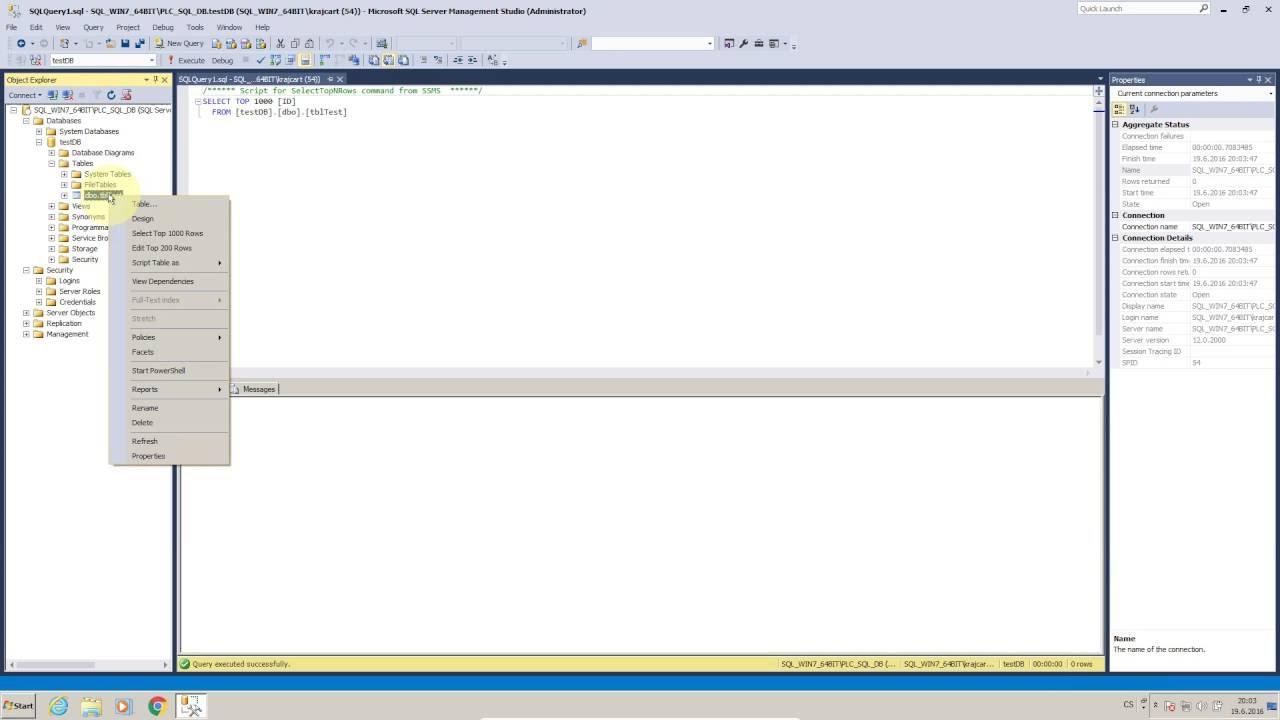 MsSQL Library for TIA Portal V13, V14 & V15 - PLC2SQL
