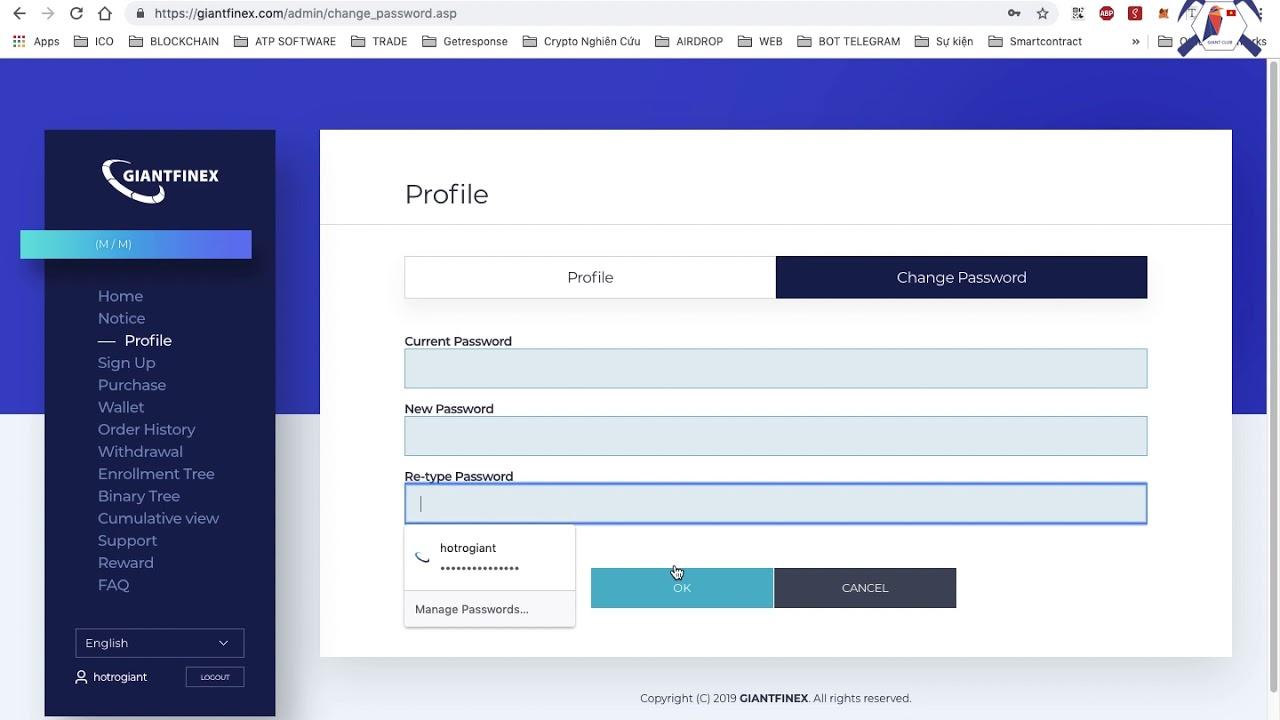 GiantFinex – Hướng dẫn tạo tài khoản và đầu tư trên Giant Finex