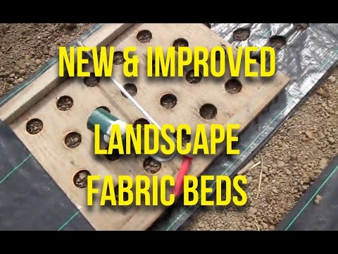 HOW TO Make landscape fabric bed covers