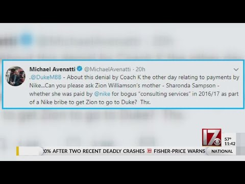 Glenn Cosby - Michael Avenatti tweets Zion Williamson's mom and possible Nike payments