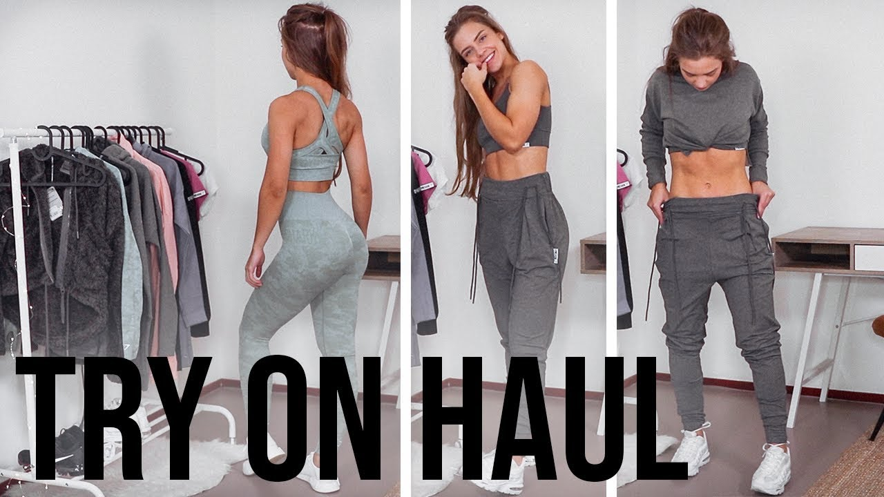89e9ab30179dd TRY ON HAUL NEW GYMSHARK (CAMO SEAMLESS) | VLOGMAS DAY 9 - YouTube