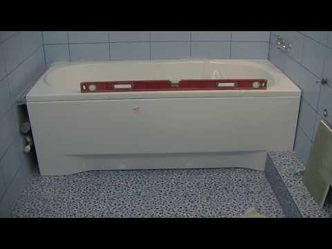 Как ровно установить экран под ванной