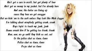 Ke$ha - Tik Tok Karaoke / Instrumental with lyrics on screen