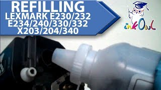 How to Refill Lexmark E230, E232, E234, E240, E330, E332, X203, X204, X340, and many others