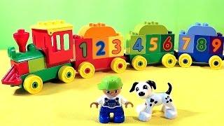 Конструктор Лего   поезд с цифрами. Lego Duplo Number Train(Конструктор Lego Duplo, для самых маленьких строителей предлагает разноцветный и красочный паровозик с цифрам..., 2014-11-06T06:55:22.000Z)