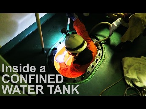 Into Ship's Massive Water Tank! | Life at Sea | Mariner's Vlog #1
