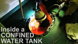 Into Ship's Massive Water Tank! | Life at Sea | Mariner's Vlog #1