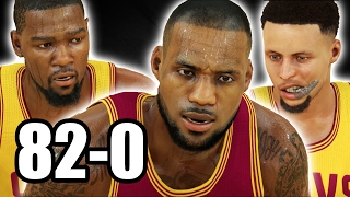 COULD GOLDEN STATE AND CLEVELAND ON ONE TEAM GO 82-0? NBA 2K17 CHALLENGE