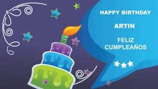 Artin   Card Tarjeta - Happy Birthday