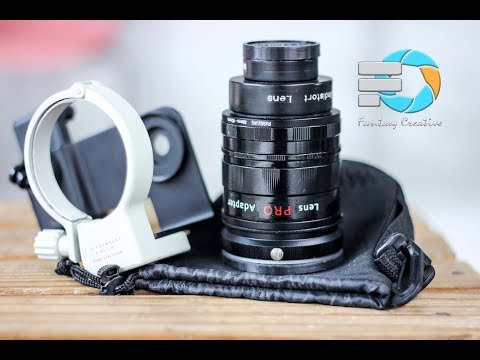 Lensa HP  Bokeh / DSLR Lens PRO Adapter dan Kamerai HP samsung
