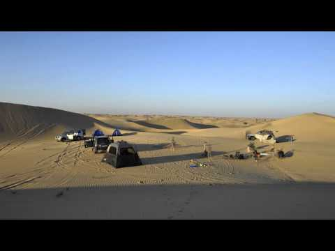 Test time lapse, Camping in the desert of Al Faqaa, Dubai Emirates, UAE