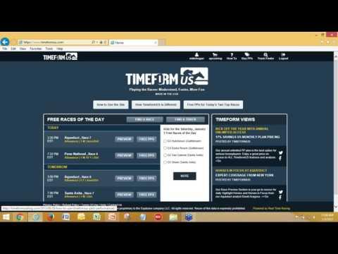 Using TimeformUS Past Performances