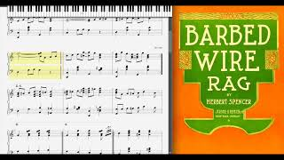 Barbed Wire Rag by Herbert Spencer (1910, Ragtime piano)
