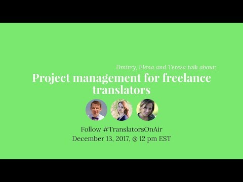 Project management for freelance translators feat. @tesousa11