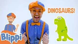 Blippi Diggs for Dinosaurs Fossils   Learns Dinosaurs For Kids   Educational Videos for Toddlers