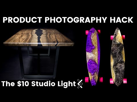 Product Photography Hack--Cheapest Studio Light