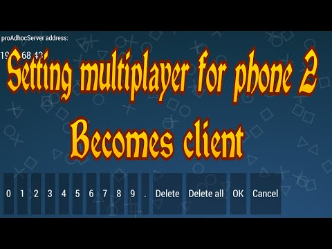 Setting multiplayer ppssppfor phone 2 becomes client