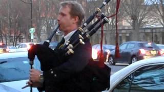 Bagpipe Music on Nassau St. Princeton, N. J.