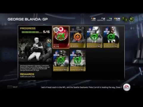 Madden 15 Ultimate Team - George Blanda Legends Set Completed - PS4