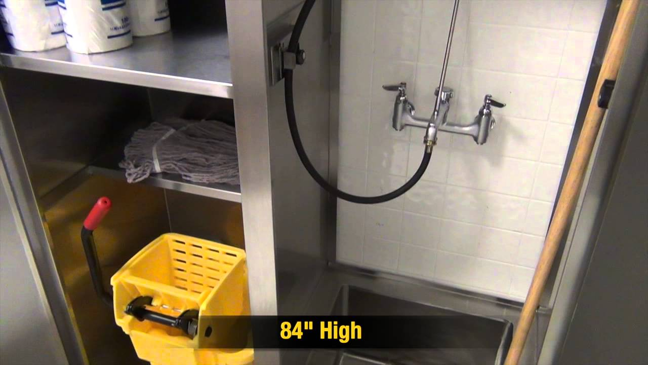 Mop Sink Cabinet : Double Width Mop Sink Cabinet by Advance Tabco - YouTube