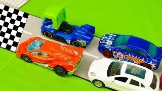 Мультик про машинки - 215 серия:  Гонки, Гоночная машина, Полицейская машина, Авария