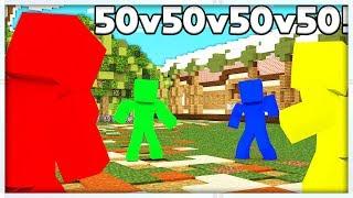 50vs50vs50vs50 Minecraft CLAY SOLDIERS MODDED BATTLEDOME CHALLENGE - Minecraft Mod
