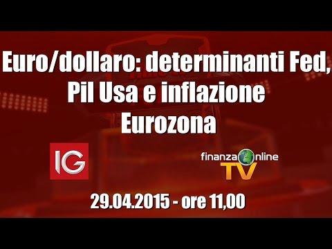Forex Time - Euro/dollaro: determinanti Fed, Pil Usa e inflazione Eurozona