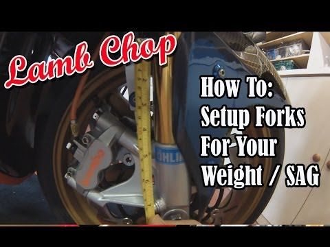 How To - Setup Motorcycle Suspension Fork Preload Adjustment / Sag