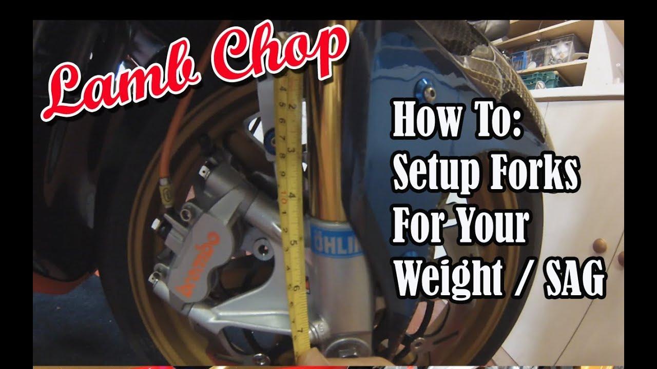How To - Setup Motorcycle Suspension Fork Preload Adjustment / Sag