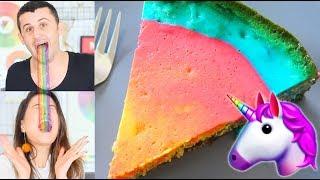 עוגת קשת בענן צבעונית מושלמת?!? כשקרין גורן פוגשת יוניקורן! - המתכון המושלם!