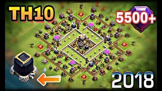 TH10 Trophy Base 2018 | Best CoC Base for TH10 Titan/Legend League 6000+ Post Update | Anti 2 Star