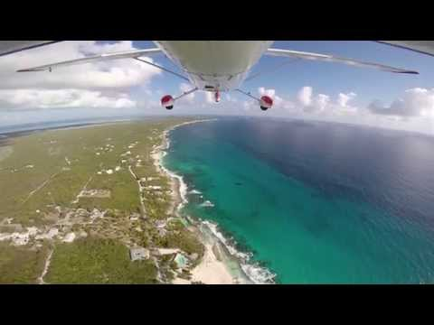 Cessna 182 - Bahamas flying from Stella Maris to Cape Santa Maria in realtime