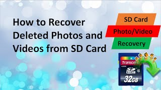 How to Recover Deleted Photos and Videos from SD Card for Free