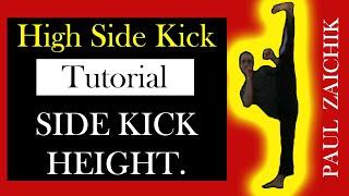 HIGH SIDE KICK Training High Kick Side Kick Powerful Fast Side, Roundhouse and Hook Kick.