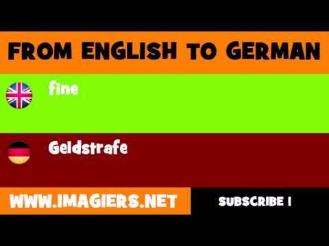 Geldstrafe Englisch