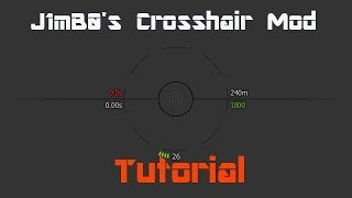 World of Tanks J1mB0's Crosshair Mod Tutorial 0.9.15.0.1[German]