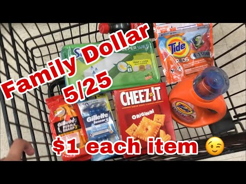 Family Dollar 5/25 | Easy All Digital Deal | $1 Per Item Say What!!! Save With Me! English & Spanish