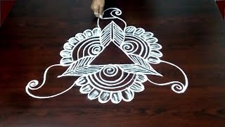 Simple Peacock Rangoli Design || Easy Peacock Muggulu  ||  Beautiful Kolam Design || Fashion World