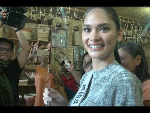 Pia Wurtzbach inspires Yolanda-hit Tagbanua community